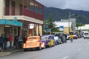 Classic cars in the Coromandel township. Photo / NZ Herald