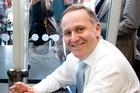 John Key at the cafe last week. Photo / Dean Purcell