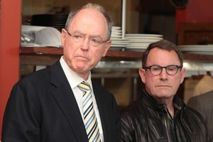 Act Party leader Don Brash and candidate John Banks. Photo / Greg Bowker