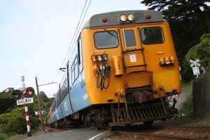 The Johnsonville train serves the electorate contested by the three candidates. Photo / Andrew Bonallack
