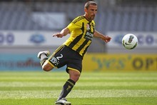 Emmanuel Muscar of the Wellington Phoenix in action. Photo / Getty Images