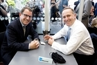 The Act Party is capitalising on John Banks and John Key's cup of tea together. Photo / Dean Purcell