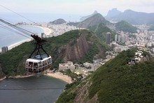 The cable-cars which link Rio de Janeiro's suburbs to  the volcanic pegs of Morro da Urca and Morro do Pao de Acucar (better today as the Sugar Loaf), were the brainchild of engineering professor Augusto Ferreira Ramos. Photo / Thinkstock