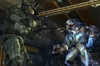 The Master Chief pops off a shot at a Covenant Elite in <i>Halo: Combat Evolved Anniversary.</i> Photo / Supplied