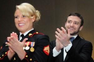 Justin Timberlake attends the Marine Corps Ball in Richmond. Photo / www.justintimberlake.com