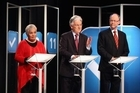 Leaders and co-leaders give their views at the minor party debate. Photo / Supplied