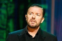 Ricky Gervais will host the Golden Globes for the third year in a row. Photo / Supplied