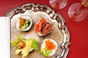 Once you've mastered how to cook the rice, sushi-making becomes an outlet for creativity with a myriad choice of flavour combinations. Photo / Babiche Martens