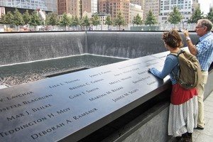 Victims' names are inscribed on the memorial. Photo / Rob McFarland