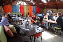 Atico Cocina (Spanish for Attic Kitchen) evokes a cosy nook, but it's very open-plan. Photo / Janna Dixon