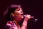 Lilly Allen performing at the Big Day Out in NZ. Photo / Richard Robinson