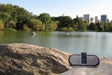 The Philips Fidelio 7600/98 in New York's Central Park. Photo / Supplied