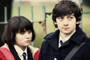 Oliver (Craig Roberts) and Jordana (Yasmin Paige) are a well-suited couple in Submarine. Photo / Supplied