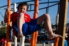 Milo and Maia Brown at the Wynyard Quarter playground. Photo / Natalie Slade