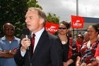 Phil Goff, Labour Leader campaigning against the sale of New Zealand state assets. Photo / NZ Herald