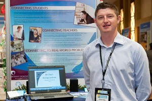 Chris Clay has won a global award for his innovative teaching methods which include podcasts and online question and answer noticeboards. Photo / Supplied