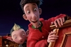Bryony, voiced by Ashley Jensen, left, and Arthur, voiced by James McAvoy, are shown in a scene from 'Arthur Christmas.' Photo / AP