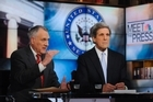 Senators John Kyle, R-Ariz., and  John Kerry, D-Mass., members of the Joint Select Committee on Deficit Reduction, talk about the status of committee work in weekend television interview. Prospects for success are dim. Photo / NBC