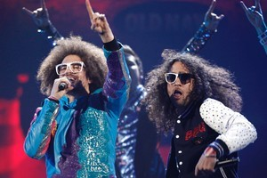 LMFAO's 'Party Rock Anthem' tops the Pirate Bay Singles list which is a good indication of the 'state of pop' around the world. Photo / AP