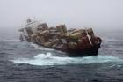 Rough seas are buffeting the stricken cargo ship Rena as gales hit across New Zealand. Photo / Alan Gibson