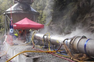 The GAG machine at the entrance to the Pike River mine in December 2010. Photo / Supplied