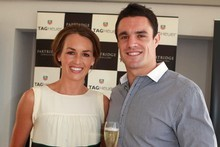 Dan Carter and his fiancee Honor Dillon will marry early next month. The couple have been together for nine years. Photo / Herald on Sunday