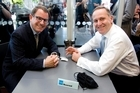 John Key and John Banks at the infamous cup of tea. Photo / Dean Purcell