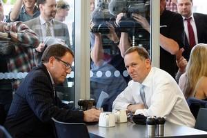 John Banks (left) and Prime Minister John Key. Photo / David White