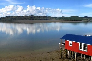 The Boatshed Cafe at Rawene enjoys uninterrupted views over the Hokianga Harbour. Photo / Supplied