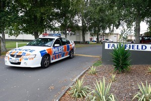 Police are investigating after the six teenagers took Ecstasy pills in the grounds of Fairfield College. Photo / Sarah Ivey