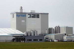 The Synlait milk processing factory near Dunsandel in Canterbury. Photo / Simon Baker