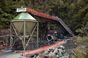 The entrance to the Pike River Coal mine where 29 workers died. Photo / APN
