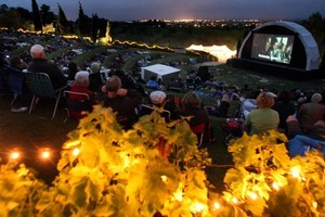 Watch movies beneath the stars at Black Barn Vineyards in Havelock North. Photo / Hawke's Bay Today