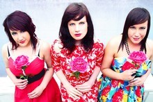 Katie Scott & The Miss T's, featuring Bronwyn Turei, right, from Go Girls. Photo / Supplied