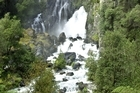 The 35m Tarawera Falls (pictured) are within walking distance of the campsite at the Lake Tarawera Outlet. Photo / Rotorua Daily Post
