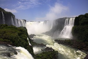 The Iguazu Falls on the Argentina-Brazil border. Photo / Thinkstock