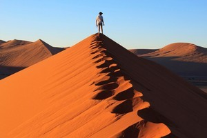 Trekking with the family in Namibia would fit the bill of a 'thrillaxating' holiday - a break that keeps both body and mind stimulated with new experiences. Photo / Thinkstock