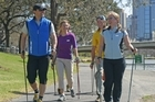 Nordic walking involves a simple and rhythmic, yet definite, technique that is easy to learn. Photo / Wairarapa Times-Age