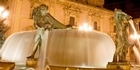 The court convenes by the fountain in the Plaza de la Virgen. Photo / Supplied