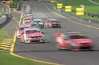 Highlights of the race, won by Jamie Whincup, at Sandown.