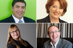 New MPs entering Parliament include (clockwise from top left) Brendan Horan, Maggie Barry, Andrew Little and Denise Roche. Photos / supplied