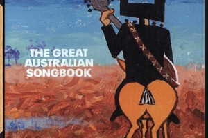 Outer book cover of The Great Australian Songbook painted by Rolf Harris. Photo / Supplied