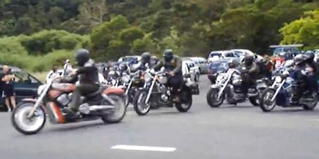 Members of the Hells Angels are expected to put up a united front on today's poker run. Photo / Supplied