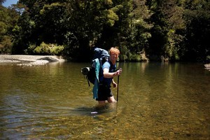 Geoff Chapple, here at Waipapa River in Northland, revived interest in a country-length trail in 1994. Photo / Supplied