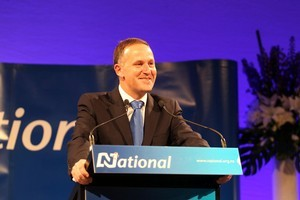 Prime Minister John Key at the New Zealand General Election 2011. Photo / Janna Dixon