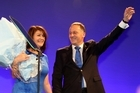 John Key and Bronagh Key at the National election night party at Sky City. Photo / Janna Dixon