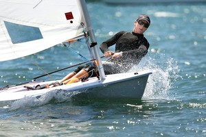 Andrew Murdoch is the incumbent Laser class Olympian, finishing fifth in Beijing. Photo / Brett Phibbs