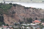 The cliff at Red Cliffs that collapsed as a result of the Christchurch earthquake. Photo /  Mark Mitchell