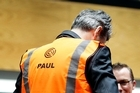 Paul Reynolds in his new Chorus high-vis vest. Photo / Sarah Ivey