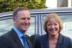 Prime Minister John Key and re-elected Waitaki MP Jacqui Dean. Photo / APN